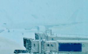 新千歳空港 雪 欠航